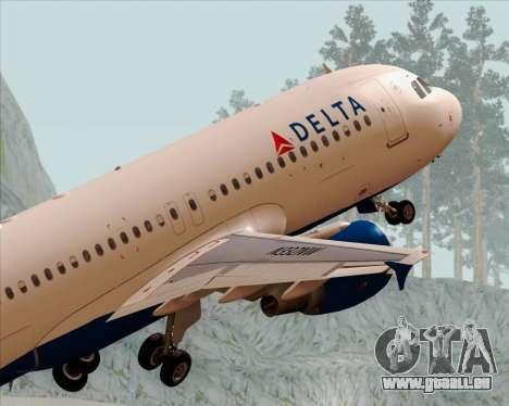 Airbus  A320-200 Delta Airlines pour GTA San Andreas moteur