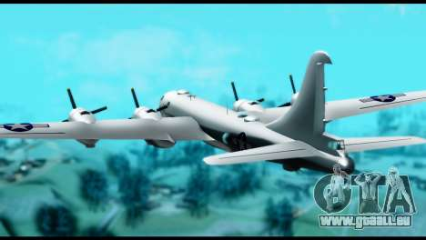B-29 Superfortress für GTA San Andreas linke Ansicht