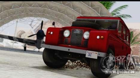 Land Rover Series IIa LWB Wagon 1962-1971 pour GTA San Andreas vue de côté