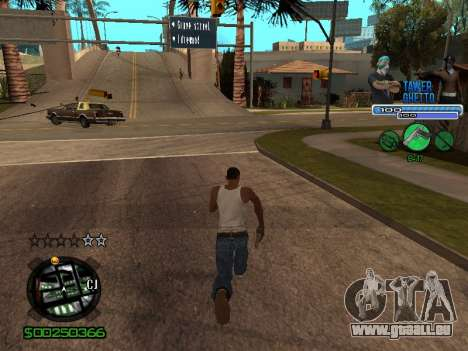 С-Hud Tawer-Ghetto v1.6-Classic für GTA San Andreas sechsten Screenshot