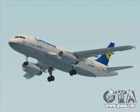 Airbus A319-100 Lufthansa pour GTA San Andreas vue arrière