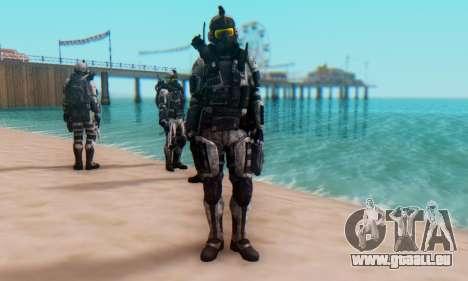 C.E.L.L. Soldier (Crysis 2) pour GTA San Andreas quatrième écran