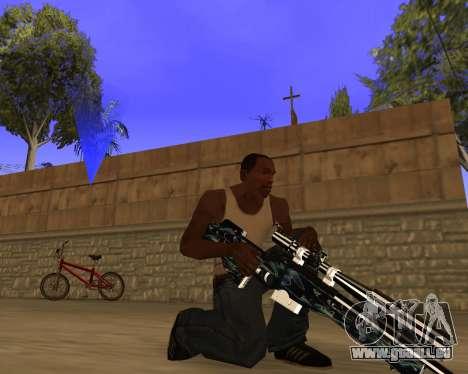 Blue Chrome Weapon Pack pour GTA San Andreas quatrième écran