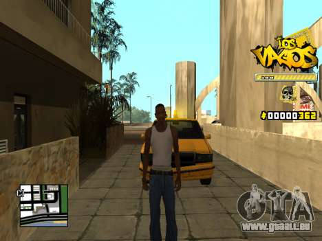 C-HUD Los Santos Vagos Gang pour GTA San Andreas deuxième écran
