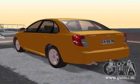 Chevrolet Lacetti für GTA San Andreas zurück linke Ansicht