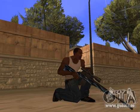Blue Chrome Weapon Pack pour GTA San Andreas deuxième écran