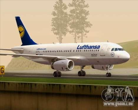 Airbus A319-100 Lufthansa pour GTA San Andreas vue intérieure