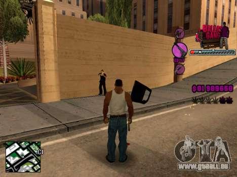 C-HUD Ballas TAWER für GTA San Andreas dritten Screenshot