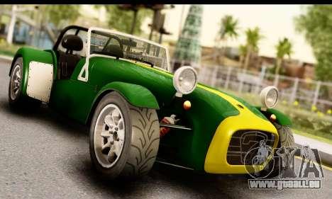 Caterham Seven 1995 pour GTA San Andreas