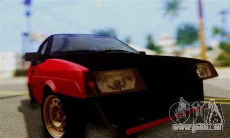 VAZ 2108 Hobo pour GTA San Andreas vue arrière