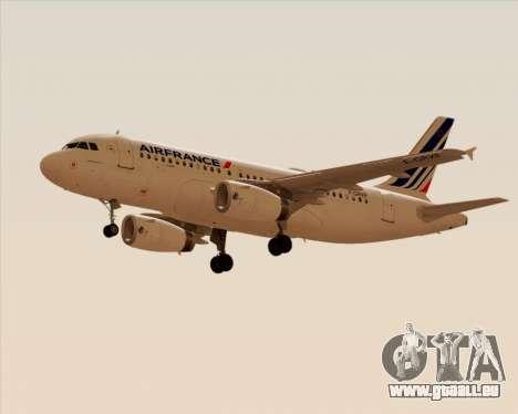 Airbus A319-100 Air France für GTA San Andreas rechten Ansicht