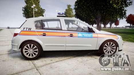 Vauxhall Astra 2009 Police [ELS] 911EP Galaxy pour GTA 4 est une gauche