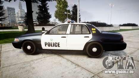 Ford Crown Victoria Ontario Police [ELS] pour GTA 4 est une gauche