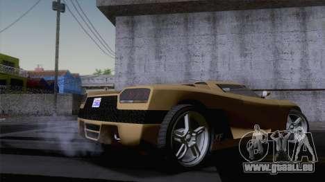 GTA V Overflod Entity XF v.2 (IVF) pour GTA San Andreas sur la vue arrière gauche