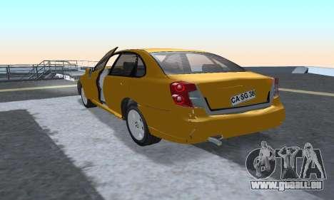Chevrolet Lacetti für GTA San Andreas Rückansicht