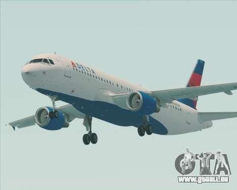 Airbus  A320-200 Delta Airlines für GTA San Andreas rechten Ansicht