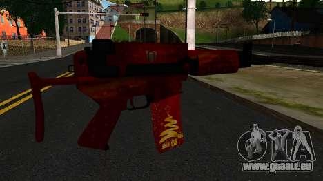 Réveillon du nouvel An Fusil d'Assaut 2 pour GTA San Andreas deuxième écran