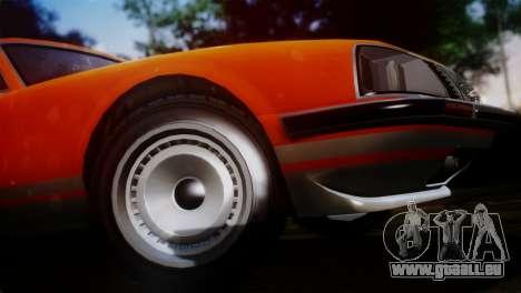 GTA 5 Lampadati Pigalle SA Plate pour GTA San Andreas sur la vue arrière gauche