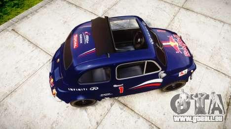 Fiat 695 Abarth SS Assetto Corse 1970 Red Bull für GTA 4