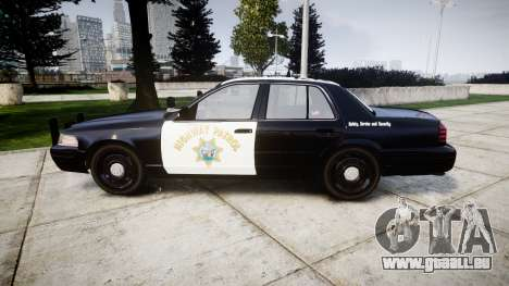 Ford Crown Victoria Highway Patrol [ELS] Slickto für GTA 4 linke Ansicht