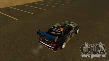 Nissan Skyline R34 FAIL CREW 2014 pour GTA San Andreas sur la vue arrière gauche