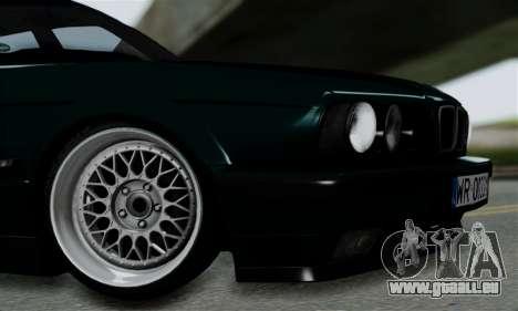 BMW 525 E34 Rims pour GTA San Andreas vue de droite
