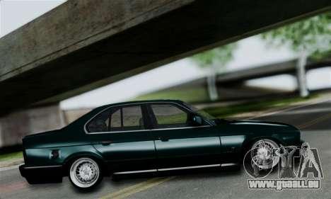 BMW 525 E34 Rims pour GTA San Andreas sur la vue arrière gauche