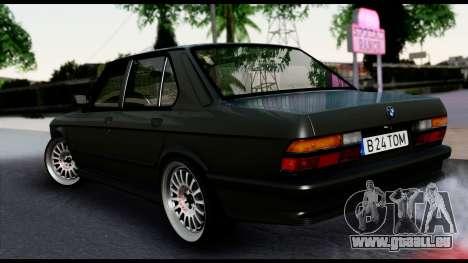 BMW M5 E28 Christmas Edition pour GTA San Andreas laissé vue