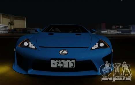 Lexus LF-A 2010 pour GTA San Andreas vue intérieure