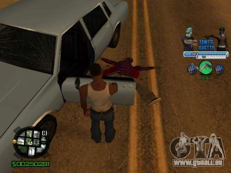 С-Hud Tawer-Ghetto v1.6-Classic für GTA San Andreas siebten Screenshot