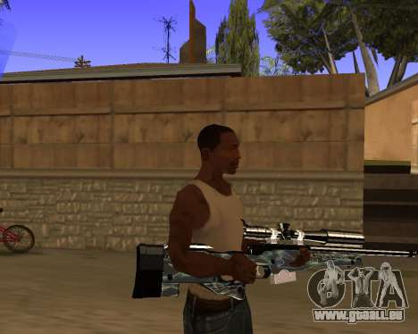 Blue Chrome Weapon Pack für GTA San Andreas fünften Screenshot