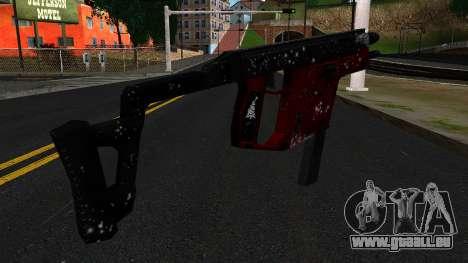 Noël MP5 pour GTA San Andreas deuxième écran