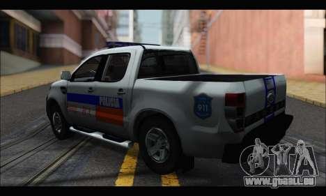 Ford Ranger P.B.A 2015 pour GTA San Andreas laissé vue