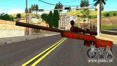 Rifle with Blood für GTA San Andreas