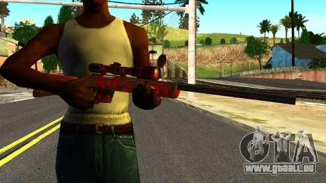 Rifle with Blood für GTA San Andreas dritten Screenshot