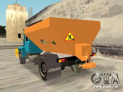 GAZ 3309 Neige pour GTA San Andreas laissé vue