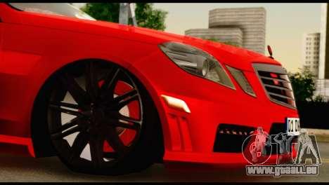 Mercedes-Benz E250 für GTA San Andreas Innenansicht