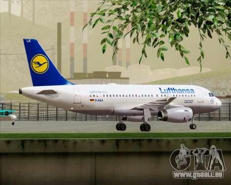 Airbus A319-100 Lufthansa pour GTA San Andreas moteur