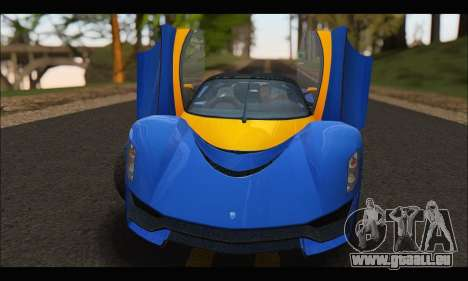 Grotti Turismo R v2 (GTA V) für GTA San Andreas Rückansicht