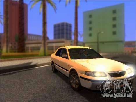 Mazda 626 für GTA San Andreas Rückansicht