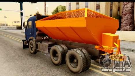 KamAZ 65115 Souffleuse À Neige pour GTA San Andreas laissé vue
