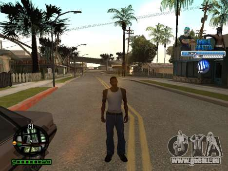 С-Hud Tawer-Ghetto v1.6-Classic für GTA San Andreas fünften Screenshot