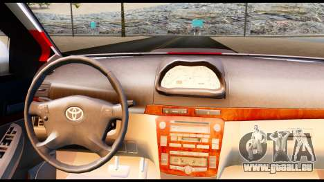 Toyota Vios TRD Racing für GTA San Andreas zurück linke Ansicht