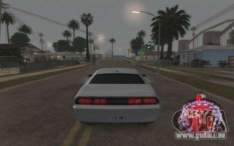 Weihnachten Tacho 2015 für GTA San Andreas fünften Screenshot