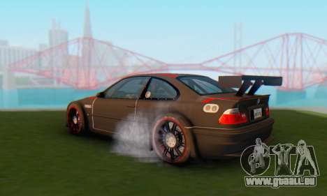 BMW M3 GTR pour GTA San Andreas laissé vue