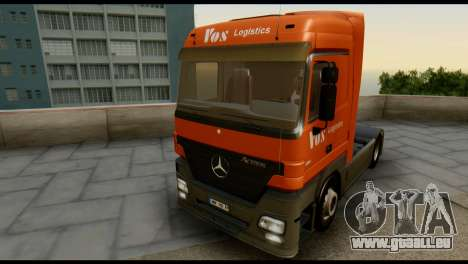 Mercedes-Benz Actros PJ1 pour GTA San Andreas vue intérieure