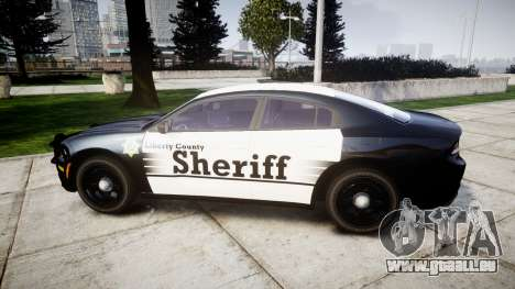 Dodge Charger 2015 County Sheriff [ELS] für GTA 4 linke Ansicht