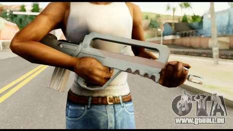 Famas from Metal Gear Solid pour GTA San Andreas troisième écran