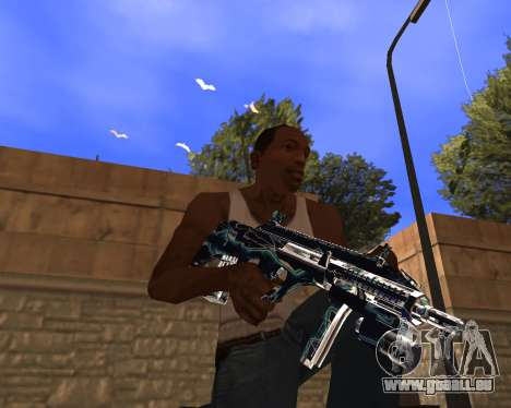 Blue Chrome Weapon Pack pour GTA San Andreas