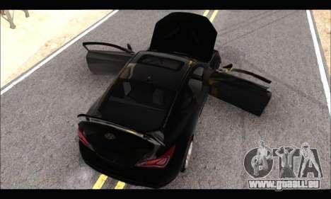 Hyundai Genesis Coupe 3.8 2013 pour GTA San Andreas sur la vue arrière gauche